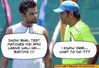 Virat Kohli and Dhoni discuss India's batting plan for Tests