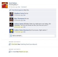 Fake Facebook Wall : Heat vs Golden State