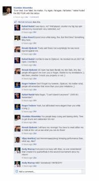 Stanislas Wawrinka's FB Wall Revealed