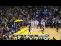 LeBron James' AMAZING game-winning 3 with 0.1 sec left vs Golden State! (02.12.2014)