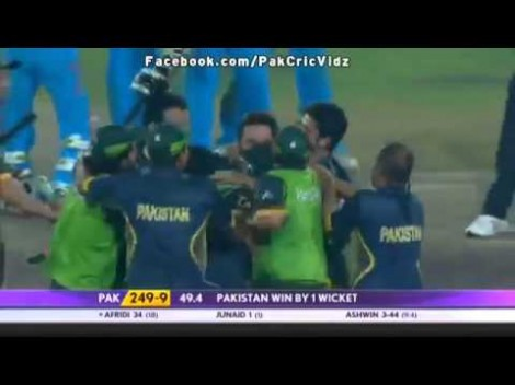 Shahid Afridi Two Sixes in Two Balls(Last Over) [ Pak v/s India - Asia Cup 2014 ]